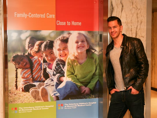Platinum-selling recording artist Andy Grammer at The Unterberg Children's Hospital at Monmouth Medical Center where he performed in 2014.