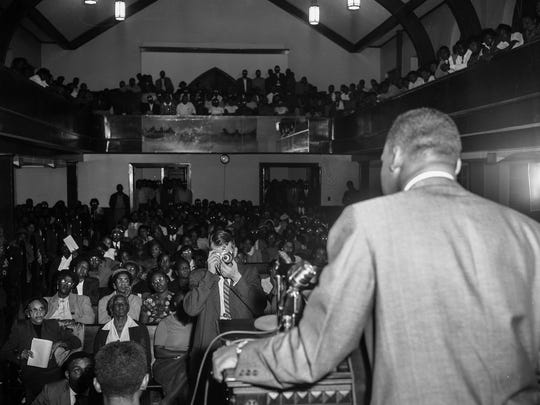 Historic photos of mass meetings at Holt Street Baptist Church during the Montgomery Bus Boycott. (Advertiser Files)