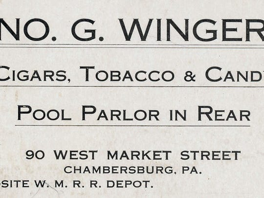 This is an advertisement card circa 1900, this business