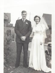 Leonard and Dolores Gentine on their wedding day in 1939.