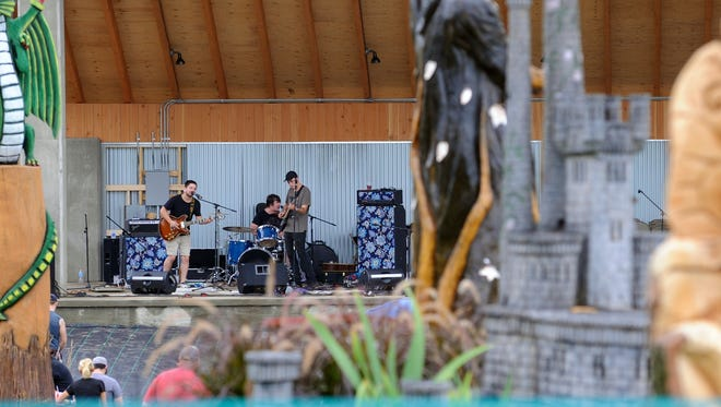 Continue the Story performs at the Fantasy Forest Stage during Leilapalooza 2016 music event.