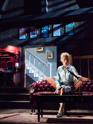 """Susan Spencer contemplates a blade in """"Deathtrap,"""" performed by Milwaukee Chamber Theatre,"""