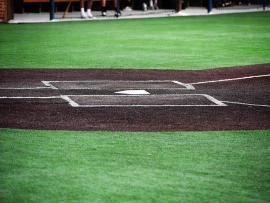 Home plate at Augustana University's Roken Field awaits