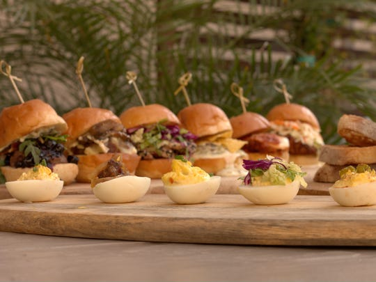 Deviled eggs and sliders are among the menu offerings at PNPK, a new restaurant in north Scottsdale.