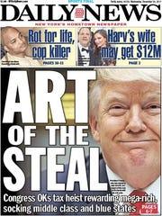 New York Daily News Dec. 20 cover