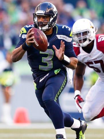 Nov 23, 2014; Seattle, WA, USA; Seattle Seahawks quarterback