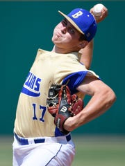 Brentwood pitcher Caleb Pearson