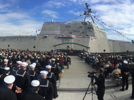The USS Jackson was commissioned Saturday at the State Port at Gulfport.