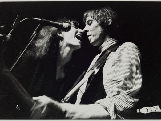 """Patti Smith and Fred Sonic Smith, New Miami Bar, 1980,"""