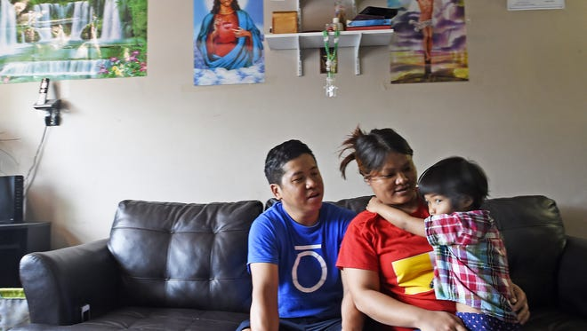 Kam Za Cin, Cing Lun and their daughter Ciin it are Burmese refugees in the Nashville area.
