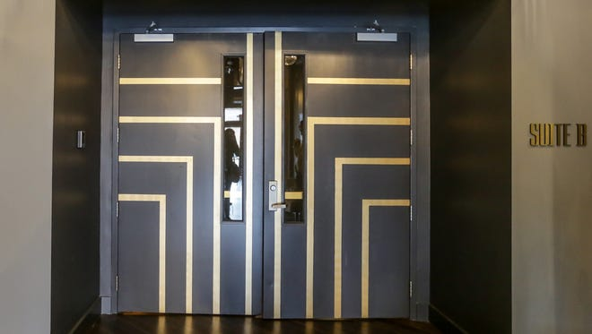 The entrance to The Cabaret, now located inside the Arts Council of Indianapolis building at 924 N Pennsylvania St. in Indianapolis on Wednesday, April 4, 2018. The newly constructed theatre features a chic old Hollywood feel.