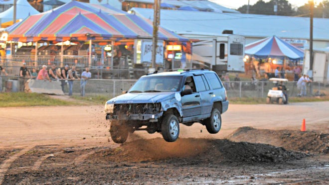 The Rough Truck contest was the highlight of an evening at the 2019 Guernsey County Fair.