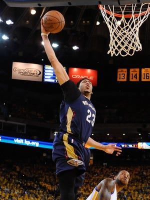 Pelicans star Anthony Davis, who has taken the NBA by storm at a young age, scored 35 points in his playoff debut.