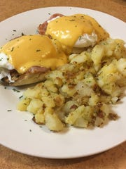 Eggs Benedict from Fisher's Cafe, Hasbrouck Heights