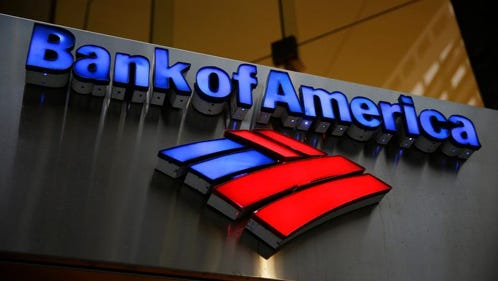 This Tuesday, Jan. 14, 2014 file photo shows a Bank of America sign in Philadelphia.