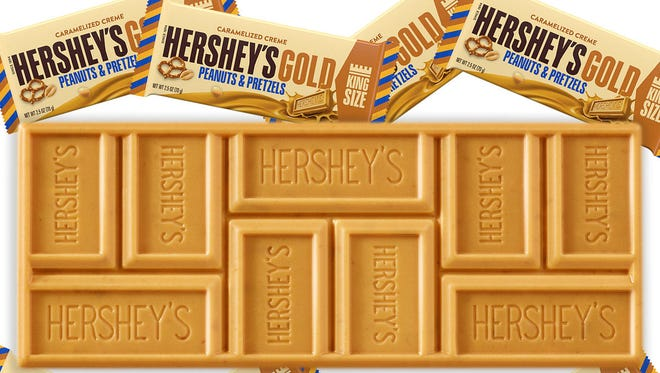 Hershey's Gold will be the fourth bar for the brand and the first new one since Hershey's Cookies 'n Creme was introduced in 1995.