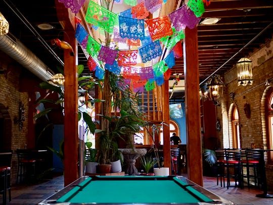 The interior of Nomad Nacional, 625 S. 5th St., reflects the new pop-up bar's Latin-inspired flavor. The bar, which opened May 4, will be the home of the Nomad's month-long party for the 2018 World Cup.