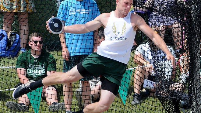 Wake Forest's Andrew White won two state championships in the discus at GlenOak.