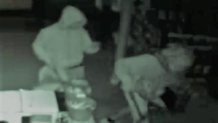 A picture from surveillance footage of a break-in reported by police at nRange on Lebanon Road in Mt. Juliet.
