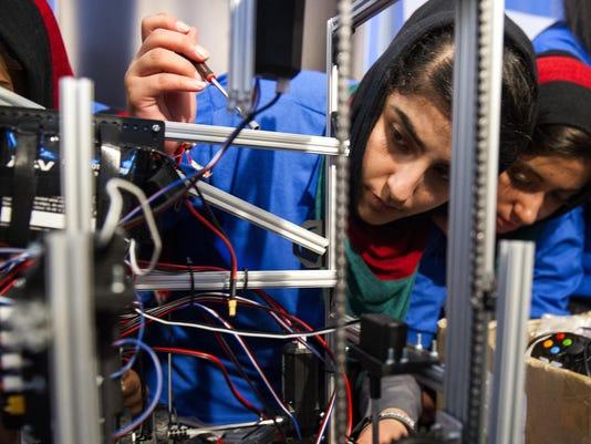 Afghanistan-Female Robotics Team