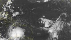 This NOAA satellite image taken  Oct. 1, 2016  shows