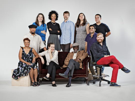 The 2018 Kresge Live  Arts  Fellows, left  to  right: