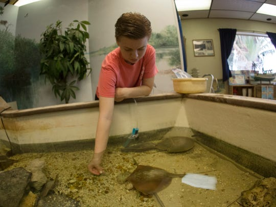 Katie Clark, marine biologist at the Ostego Bay Science