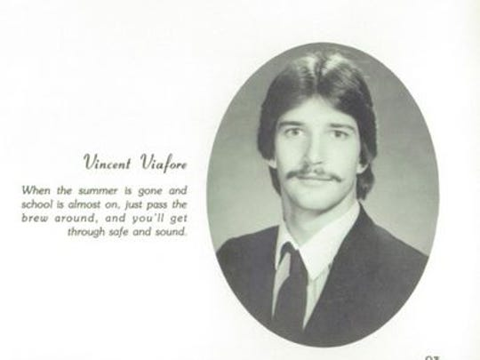Vincent Viafore in his Roy C. Ketcham High School graduation yearbook photo in 1986.