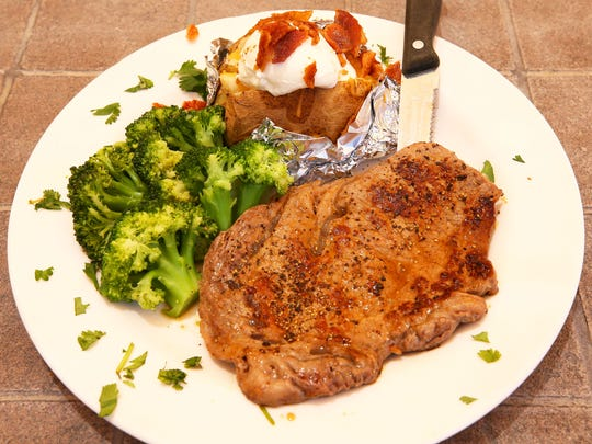 Ribeye steak from the open-to-the-public restaurant at Sante of Surprise on May 7, 2018 in Surprise, Ariz. Sante of Surprise is a short-term rehab facility for elderly patients.