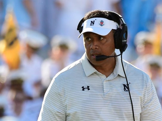 Navy Midshipmen head coach Ken Niumatalolo.