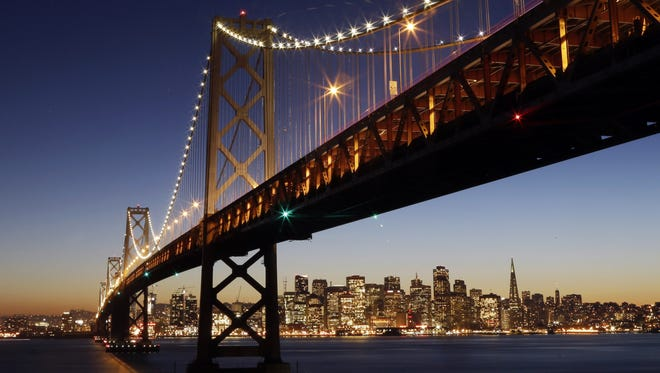 The East Span of San Francisco's Bay Bridge.