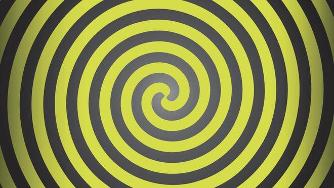 Hypnosis yellow spiral. Op Art
