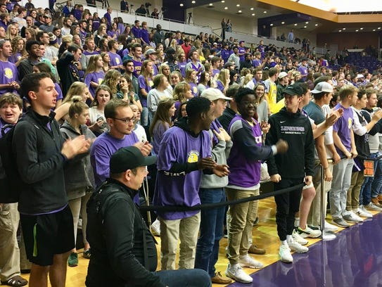 A near capacity crowd showed up at Allen Arena for