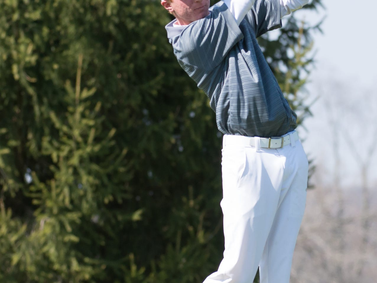 Gull Lake's Brad Wheeler tees off on the 11th hole Thursday afternoon during the Lakeview Jamboree held at Cedar Creek golf course.