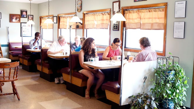 Customers in the booths at Sparky's Diner in Garnerville on Thursday, July 13, 2017.