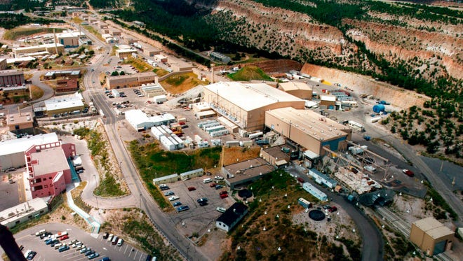 This undated aerial photo shows the Los Alamos National laboratory in Los Alamos, N.M.