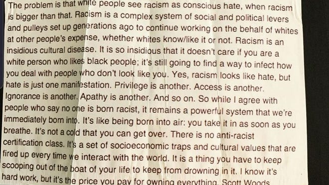 A paragraph by Scott Woods that has recently gone viral