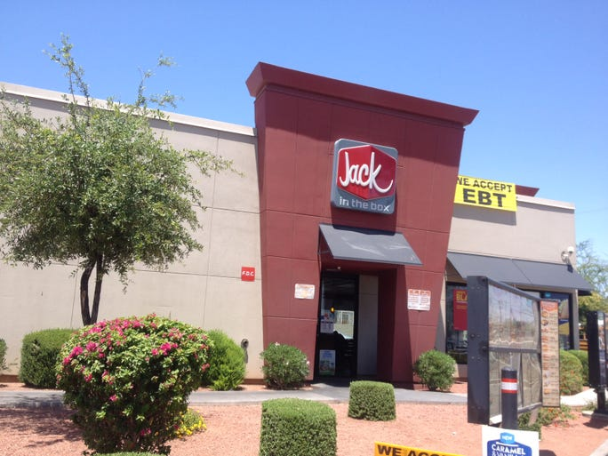 On a day when fast-food workers walked off the job in some cities to demand $15 an hour, all was quiet at the Jack in the Box at 620 E. Buckeye Rd., Phoenix.