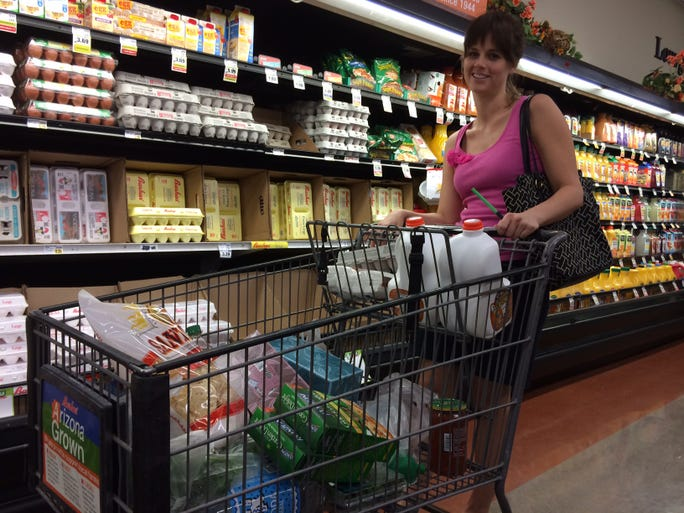As shoppers like Evie Kriegbaum know, Arizona food prices keep going up. They are 9 percent higher than last year, and still rising, according to the Arizona Farm Bureau Federation Marketbasket Survey.