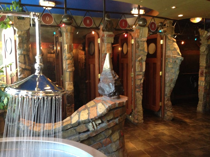 "The Varsity Theater in Minneapolis gets top honors in the 2013 America's Best Restroom Contest, with its ""Alice In Wonderland-like grotto."""
