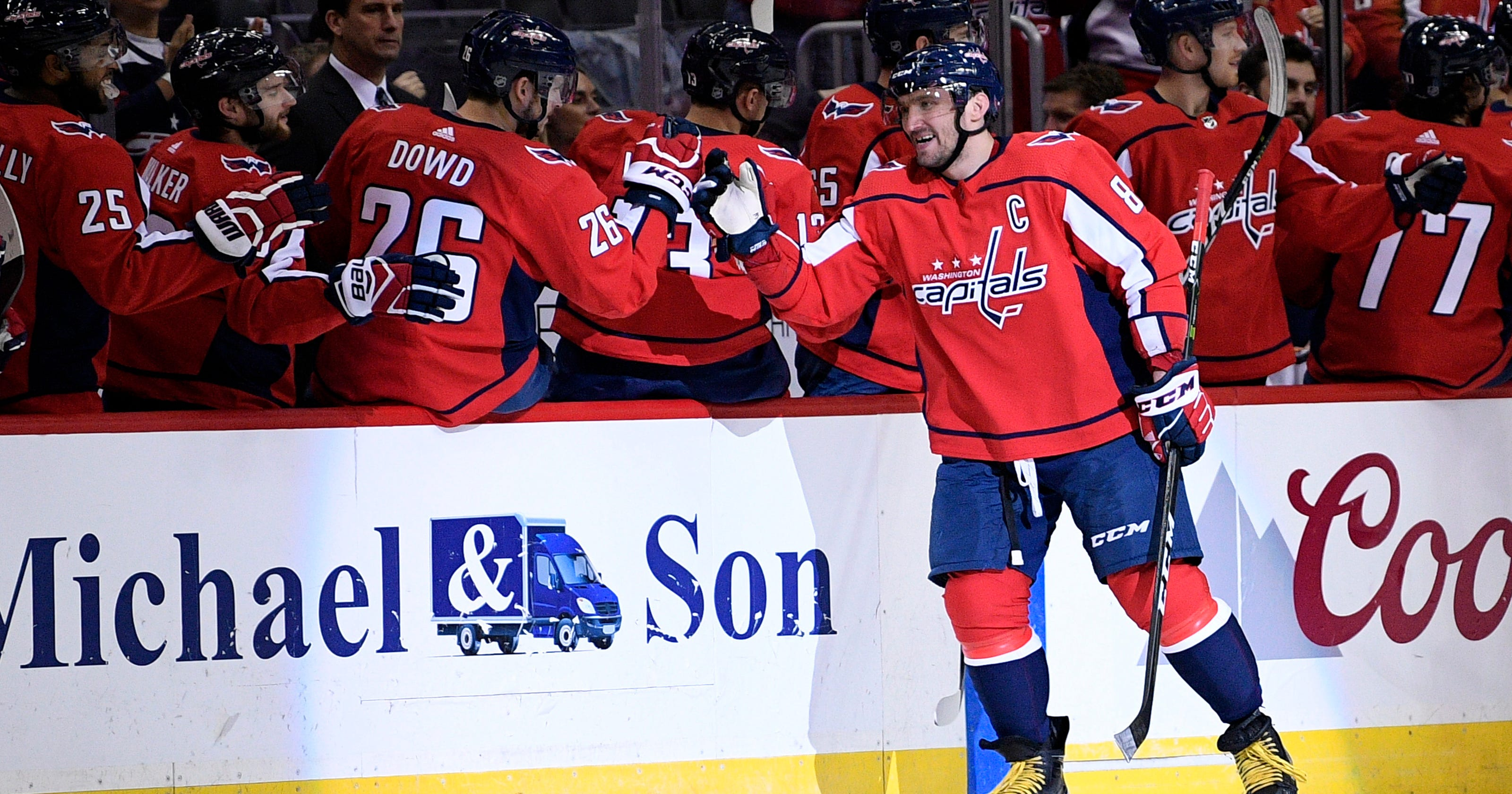 ee35c18be95 Alex Ovechkin scores twice