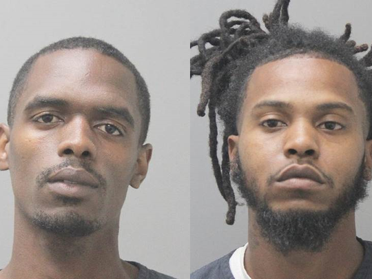 Tremaine Lewis and Derrick Adams were arrested after