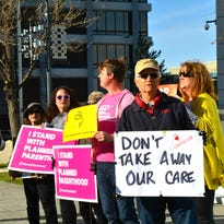 Reno protesters rally against Obamacare replacement bill