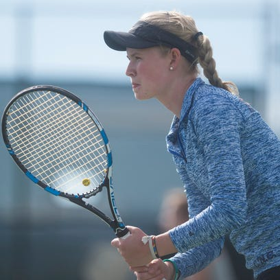 Poudre No. 1 singles player Ky Ecton, pictures in this