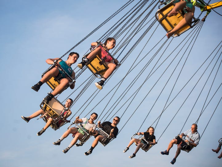 Hundreds gather at the Delaware County Fair for the