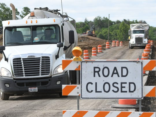 Trimble Road is closed between Marion Avenue and Cook