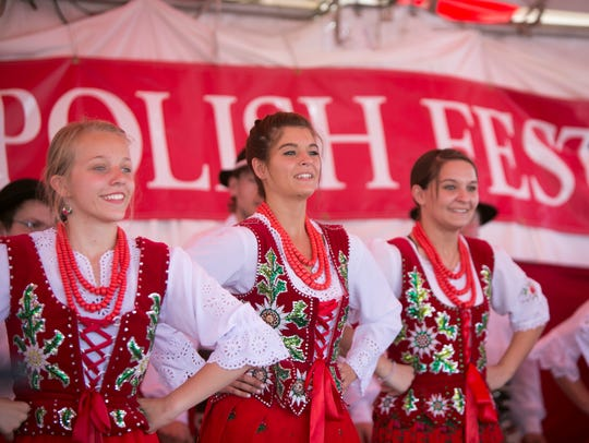 The Polish Highlander group named Tatry performs during