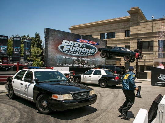 Fast & Furious Supercharged is the grand finale of the Studio Tour. Located on the legendary backlot, the high speed, 3D-HD ride features the characters from the Fast & Furious film series at high speeds and exhilarating thrills.