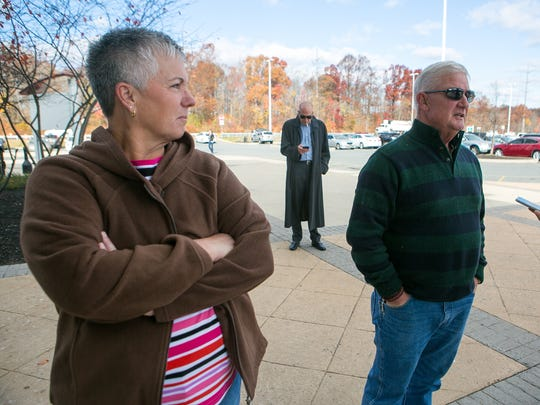 Retirees Steve Greene and his wife Becky from Holman, NC, stop at the Welcome Center on I-95 in Newark, are on their way to the D.C. suburbs in Virginia after visiting family in Vermont.