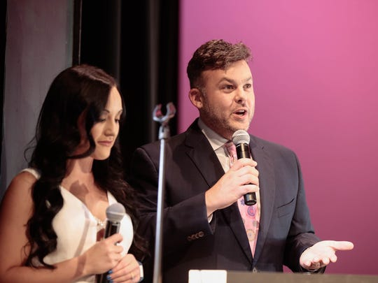 Emcees Carley McCord and David D'Quin